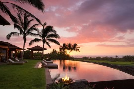 Let the beach and ocean views standout by creating an uncluttered poolside landscape