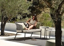Light-weight and all-weather outdoor sofa Contour from Tribu