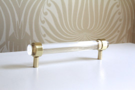 Lucite and brass handles from Etsy shop LuxHoldUps