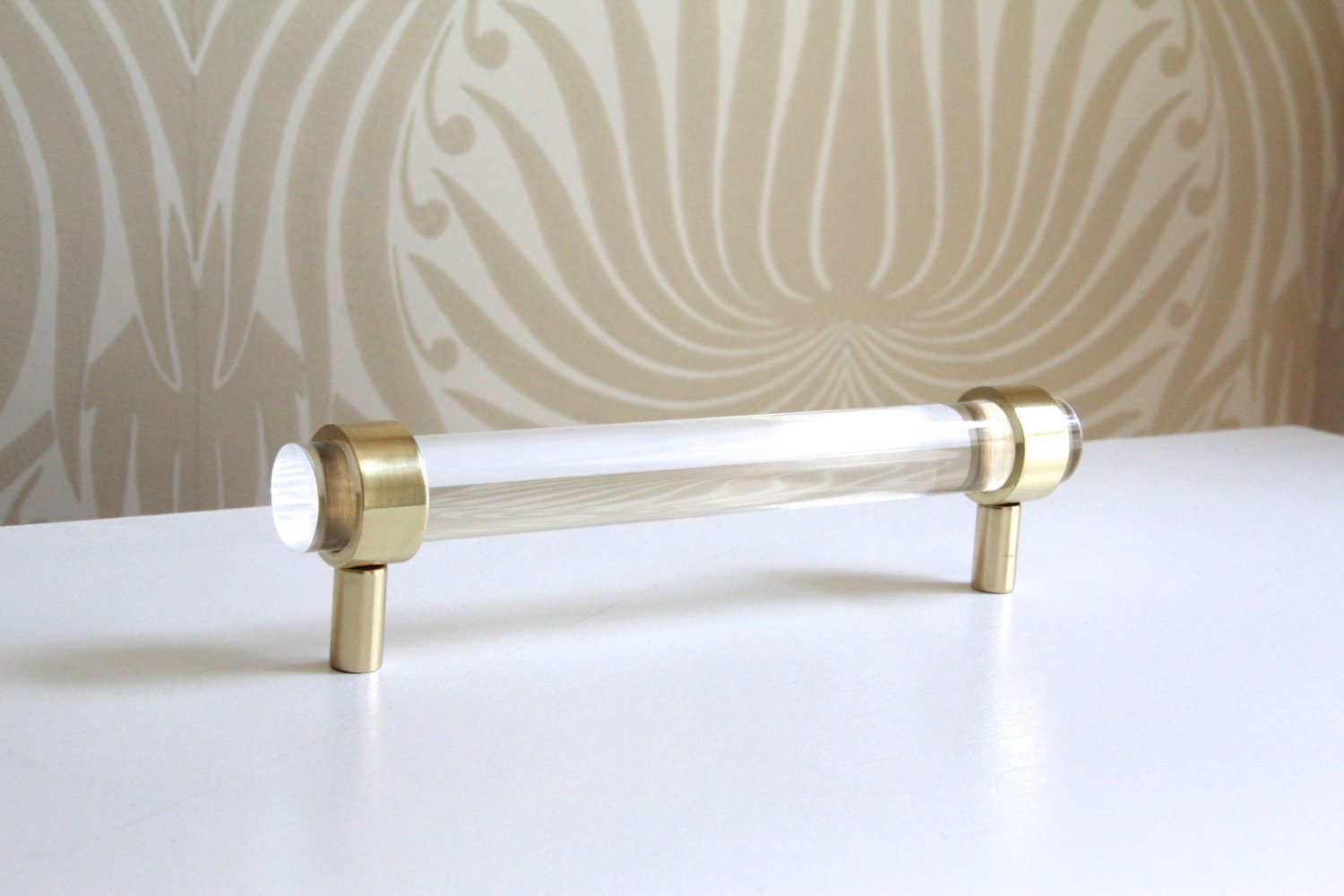 view in gallery lucite and brass handles from etsy shop luxholdups