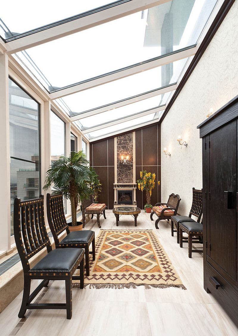 Make use of available space to create a smart sunroom [Design: Premier Décor]