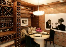 Make use of the corner space in the wine cellar