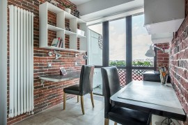 Make use of the vertical space on offer in the small home office