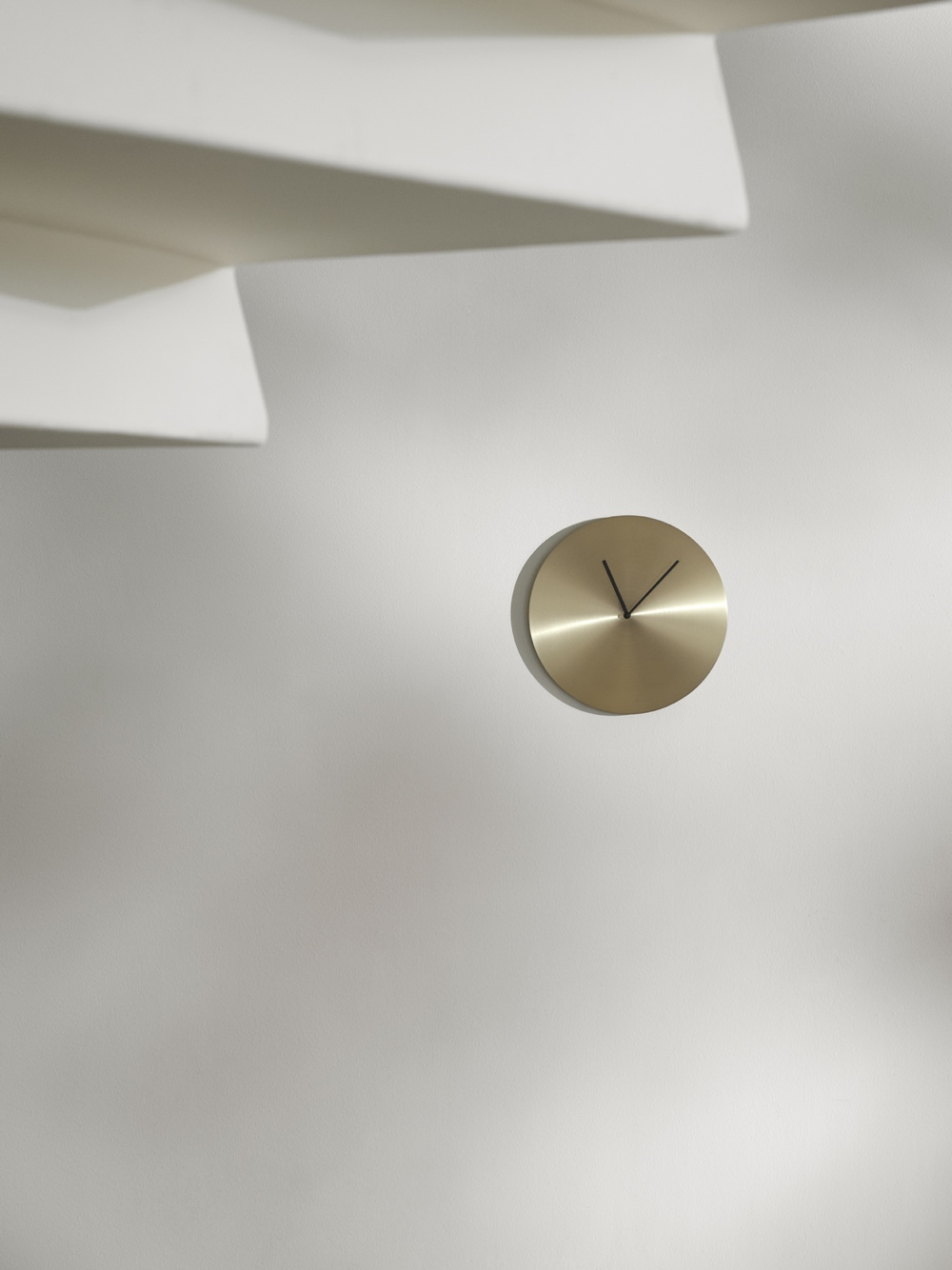 Metal Wall Clock in brass