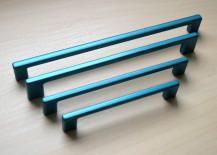 Metallic drawer pulls from Elegant Cabinets