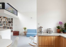Midcentury-classics-coupled-with-large-bookshelf-and-colorful-couch-in-the-living-room-217x155