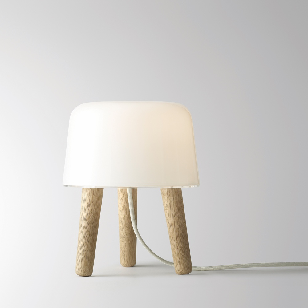 Milk Lamp with white cord