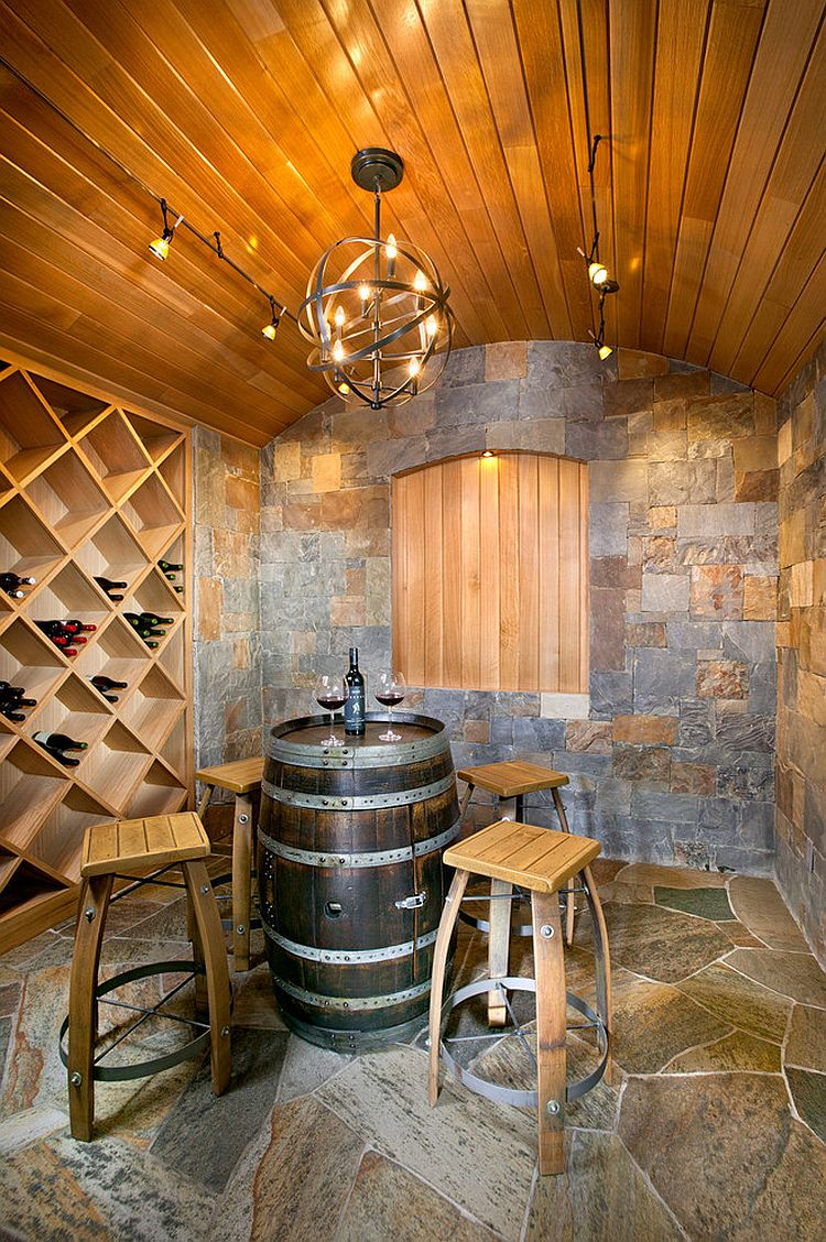 Connoisseur 39 s delight 20 tasting room ideas to complete for Home wine cellar design ideas