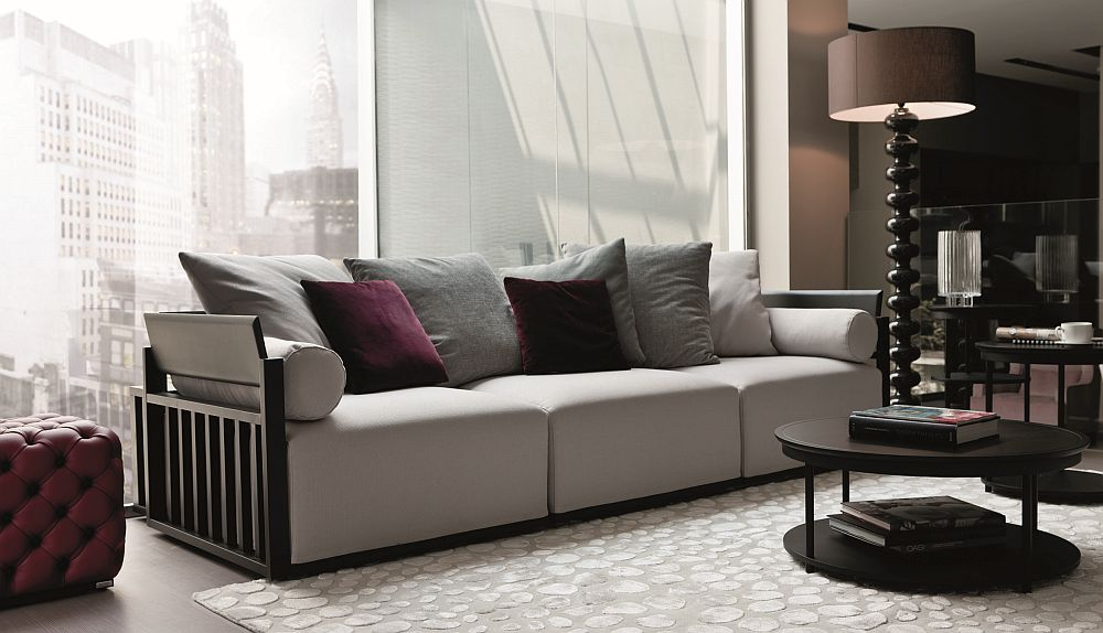 Mix and match a wide range of pillows and cushions to give the Bolero a new look Bolero: Italian Made Modular Sofa Unravels a World of Possibilities