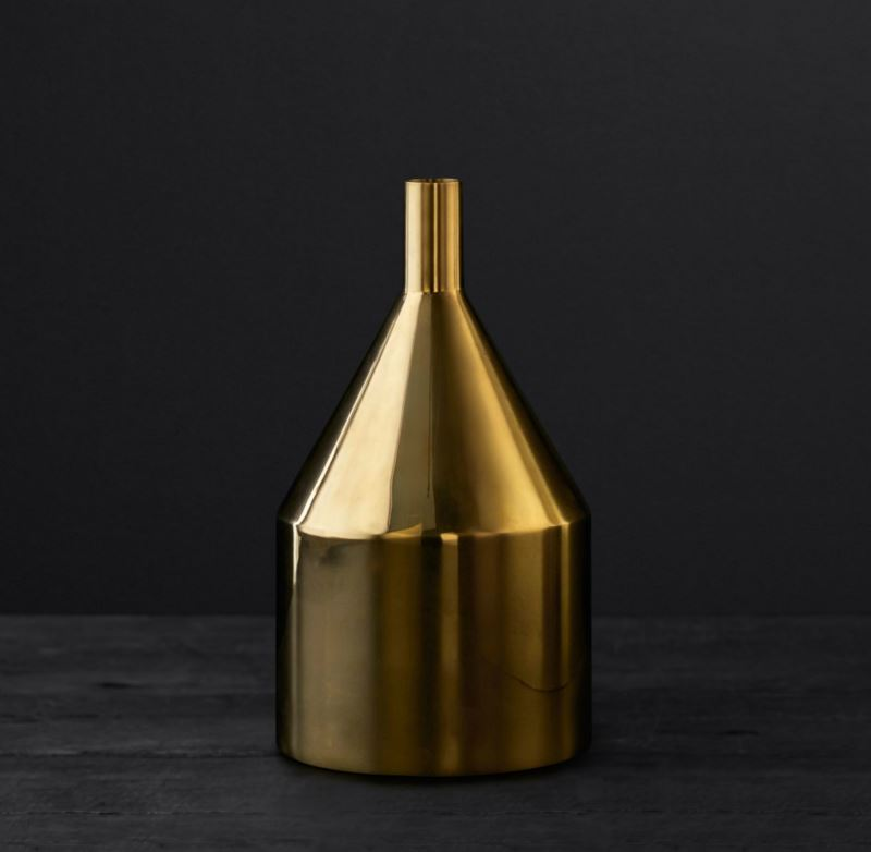Modern brass vase from RH Modern