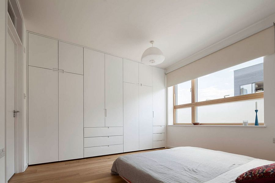 Modern minimal bedroom in white