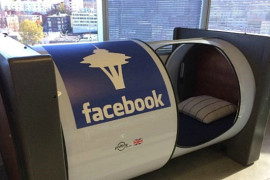 Nap pod in the Seattle offices of Facebook