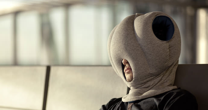 Nap time is just an Ostrich Pillow away