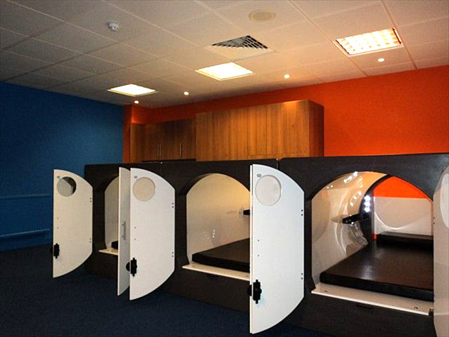 Napping pods in a London office