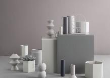 Neutral geo vases from ferm LIVING