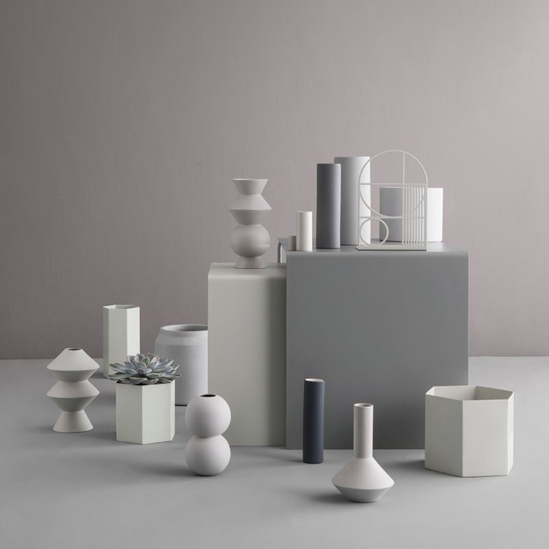Neutral geo vases from ferm LIVING