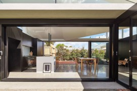 New, pavilion-styled living area of the revamped cottage in Melbourne