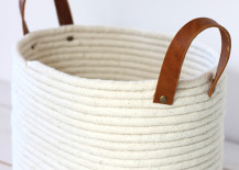 No-sew rope basket from Alice and Lois