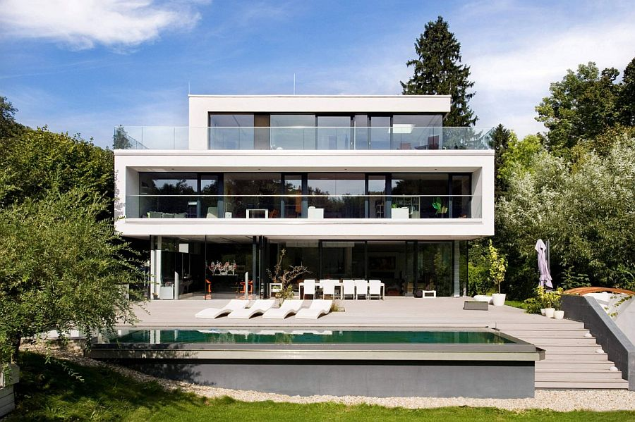 Open and spacious family home in Hinterbrühl Austria Dynamic Minimalism: Luxurious Family Residence in Austria