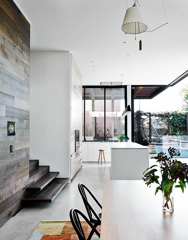 Open floor plan of the contemporary rear extension of the Aussie home