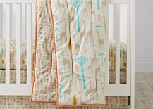 Organic bedding designed by Elizabeth Olwen for The Land of Nod