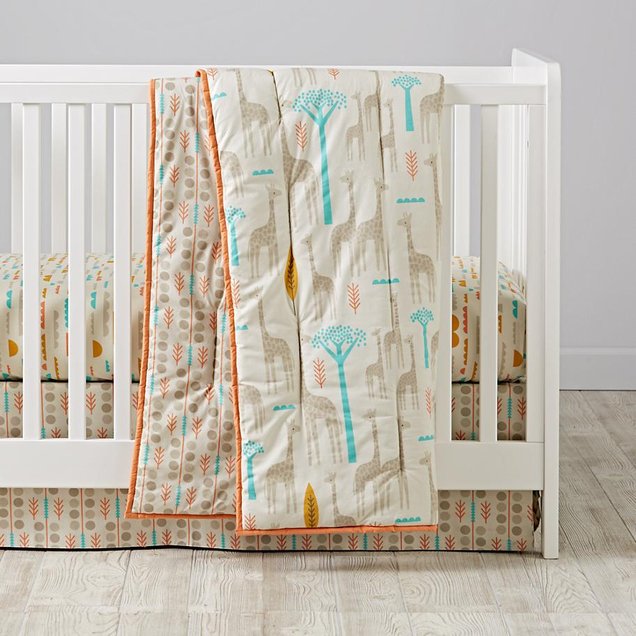 Organic bedding designed by Elizabeth Olwen for The Land of Nod