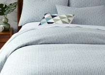 Organic bedding from West Elm