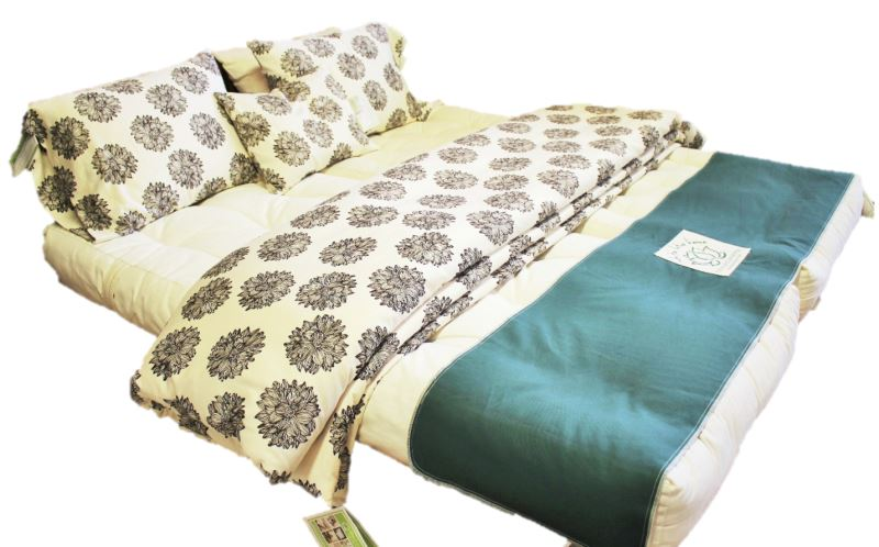 Organic sateen duvet cover from White Lotus Home
