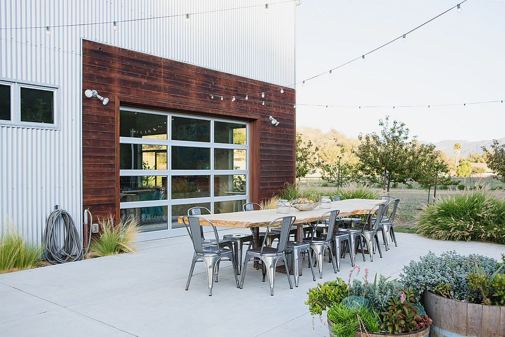 Outdoor dining room with Marais A Chair [Design: Elements Architecture + Design]