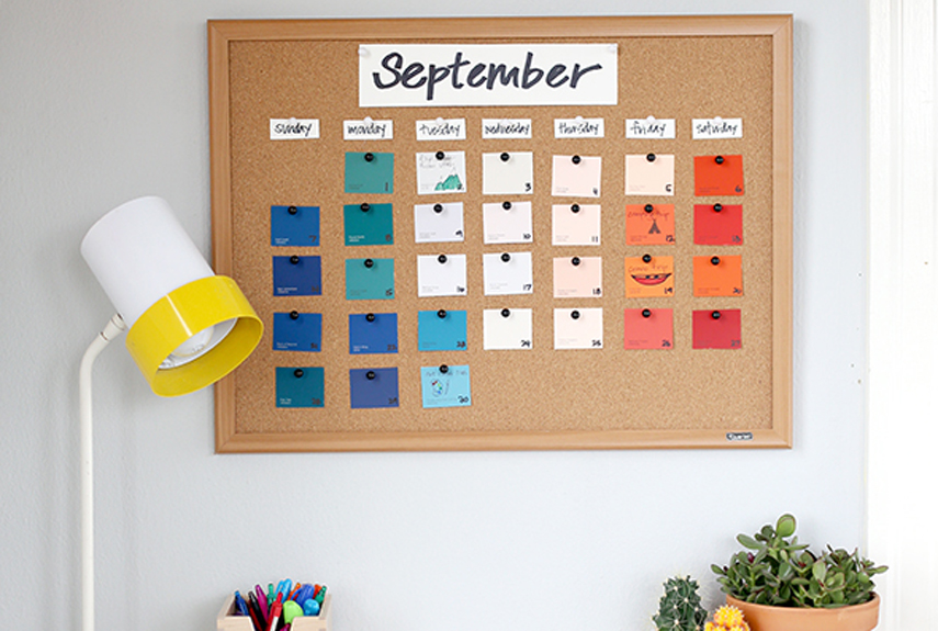 20 creative calendar designs view in gallery paint chip calendar solutioingenieria Image collections
