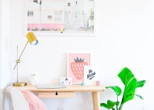Pastel prints in the guest room and office of Proper blogger Lexy Ward