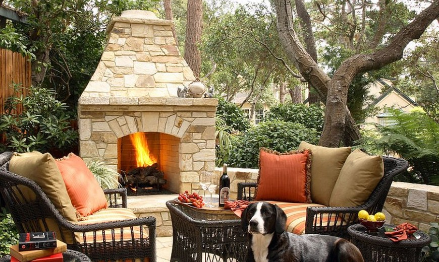 Sizzling Style: How to Decorate a Stylish Outdoor Hangout with a Fireplace