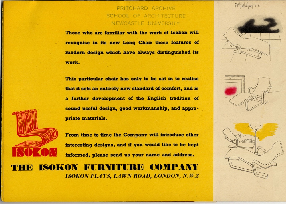 Promotional leaflet Isokon Long Chair part 2