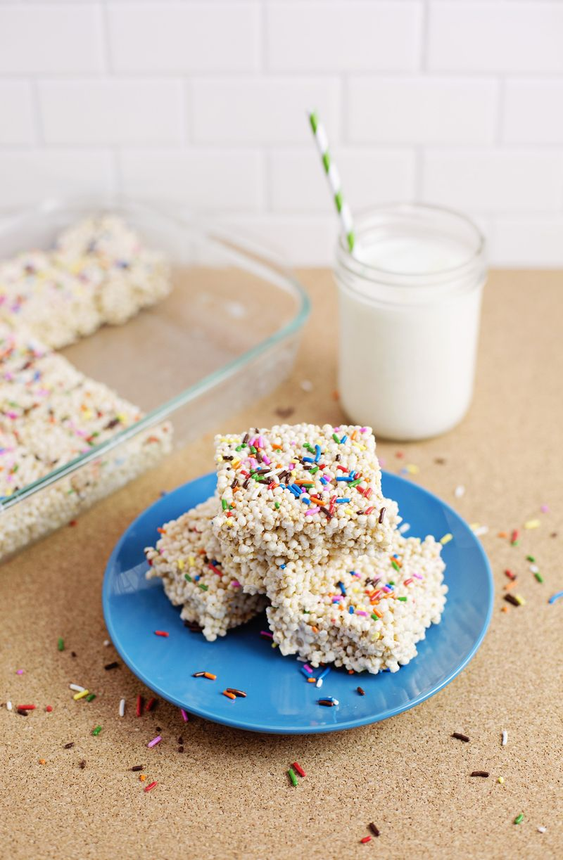 Quinoa krispie treats from A Beautiful Mess