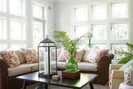 Rattan furniture is perfect for the relaxed sunroom