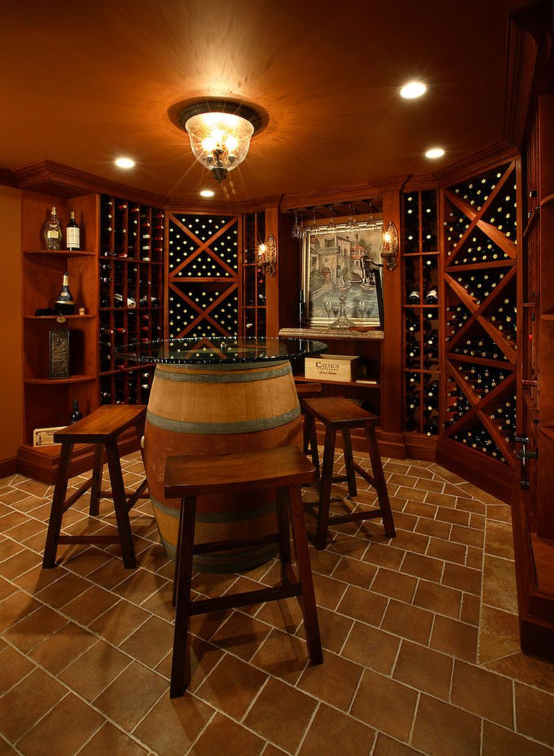 Connoisseur 39 s delight 20 tasting room ideas to complete for Wine cellar layout