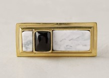 Resin and brass drawer knob from Anthropologie
