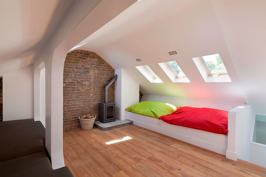 Revamped interior of the Lonodn home turns the loft into a relaxing retreat