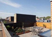 Rooftop garden and terrace of the spacious London home