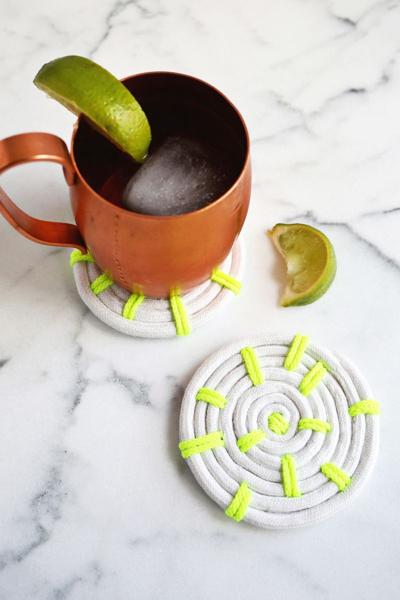 Rope coaster DIY from A Beautiful Mess
