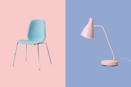 Rose quartz and serenity finds from IKEA