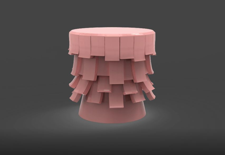 Rosy stool from Bitangra