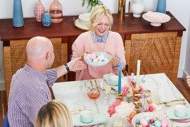 Roundish Mini Bowls on an Easter brunch table via Emily Henderson