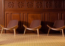 Shell Chairs in the Widows Hall 217x155 Hans J. Wegner: The Danish Modernist