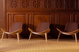 Shell Chairs in the Widows Hall
