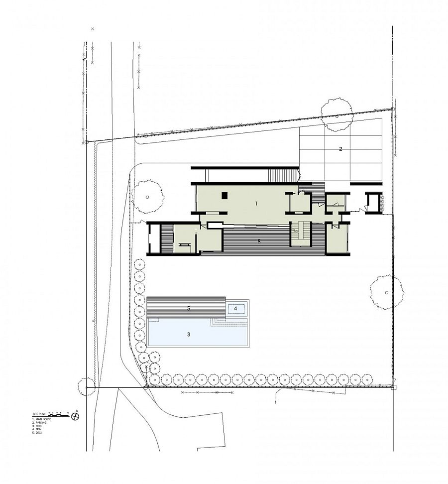 Site plan of the New York home with top notch acoustics