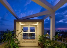 Sky garden on the fourth level of Ho Chi Minh City Residence with lovely views