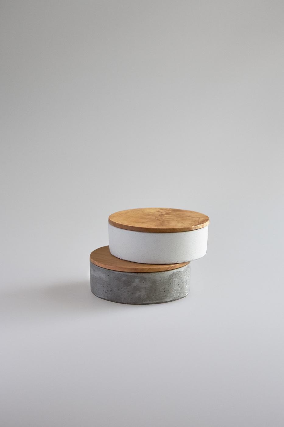 Small Round Concrete Container