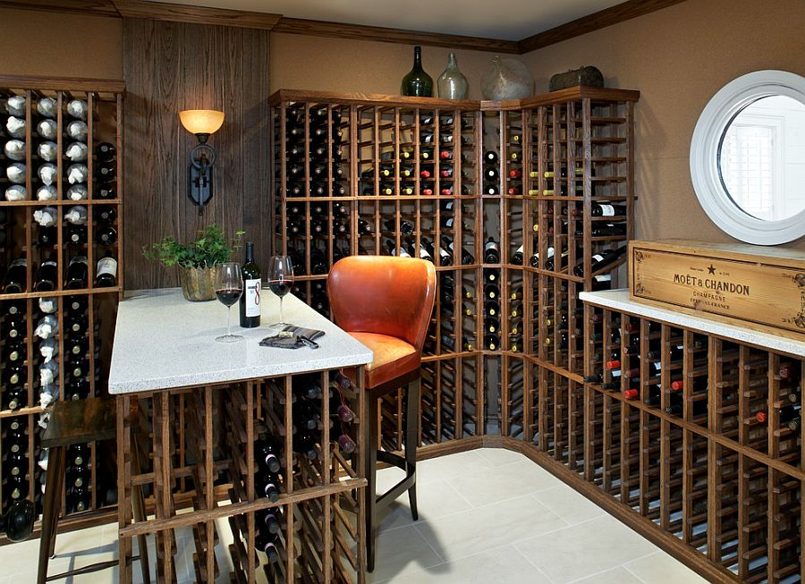 Wine Room Design Ideas Small And Comfy Wine Tasting Area In The Smart Wine Cellar Design