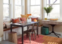 Small-corner-banquette-with-a-cool-bench-and-Marais-A-Chairs-217x155